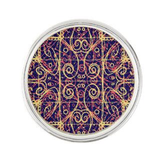 Tribal Ornate Pattern Lapel Pin