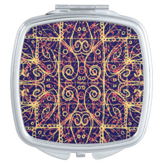 Tribal Ornate Pattern Travel Mirror