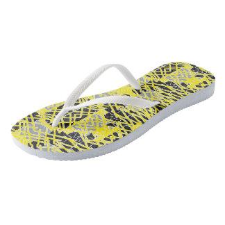 Tribal Paint Slim Strap Flip Flops