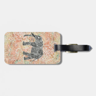 Tribal Paisley Elephant Colorful Henna Pattern Tags For Bags