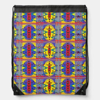 tribal pattern drawstring backpack