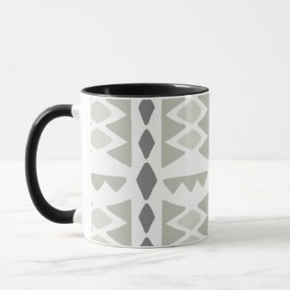 Tribal Pattern In Gray Tones | Mug