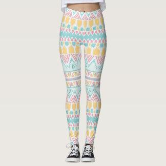 Tribal pattern leggings