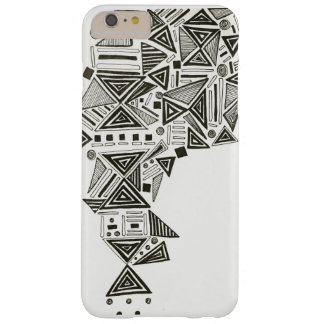tribal pattern on white background barely there iPhone 6 plus case