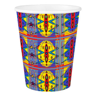 tribal pattern paper cup