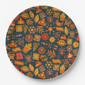Tribal Pattern Paper Plate