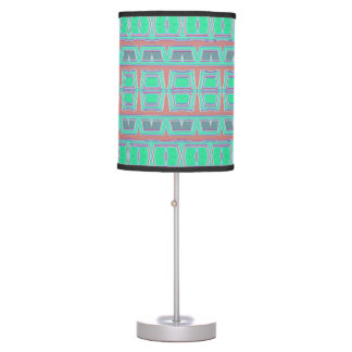 Tribal pattern table lamp
