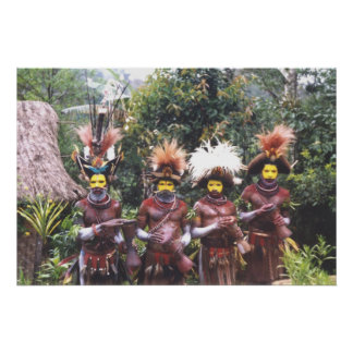 Tribal people of Papua New Guinea, Poster
