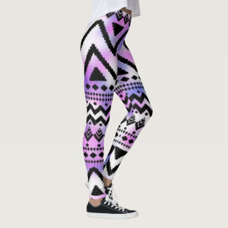 Tribal Pink and Purple Leggings