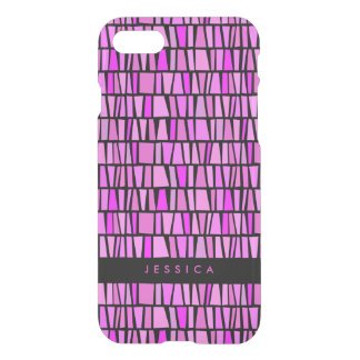 Tribal Pink Domino Pattern iPhone 8/7 Case