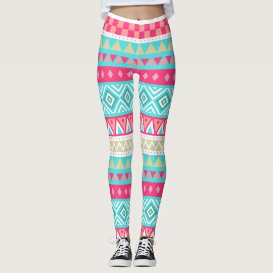 Tribal pink leggings