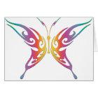 Tribal Rainbow Butterfly Card