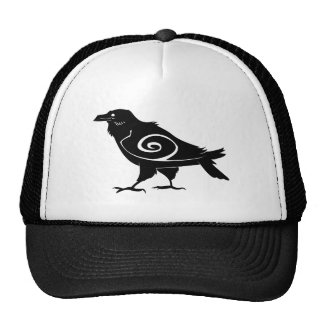 Tribal Raven Baseball Cap Hat