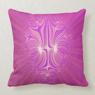 Tribal_Rays_Abstract_Fuchia_Graphic Throw Pillow