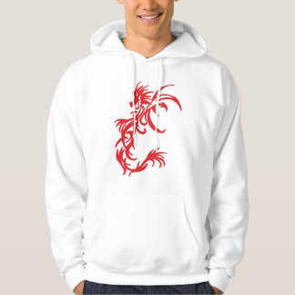 tribal red dragon and Black Dragon Hoodie