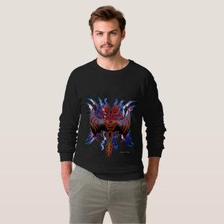 Tribal Red Dragon Men's Raglan Sweatshirt