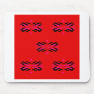 TRIBAL Red Hand drawn Art Mouse Pad