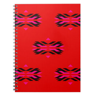 TRIBAL Red Hand drawn Art Notebooks