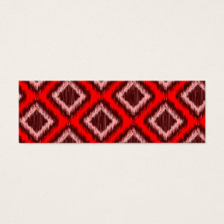 Tribal Red Ikat Modern Chic Pattern Mini Business Card