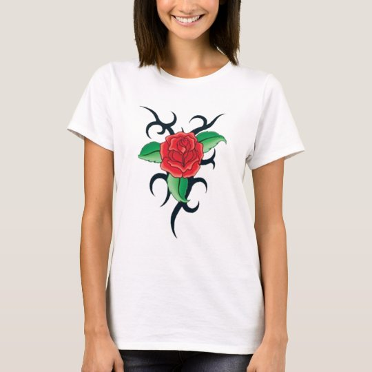 tribal red rose T-Shirt
