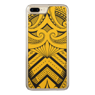 Tribal Samoan tattoo design SBW style Carved iPhone 7 Plus Case