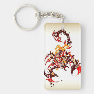 Tribal Scorpio Keychain