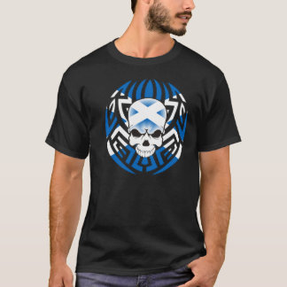 Tribal Scottish Flag/Skull T-Shirt