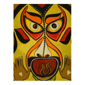 Tribal Scream Postcard