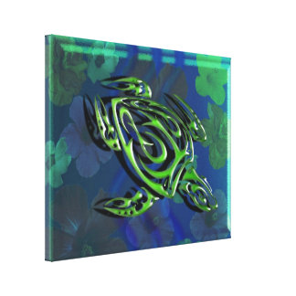 Tribal Sea Turtle Gallery Wrap Canvas