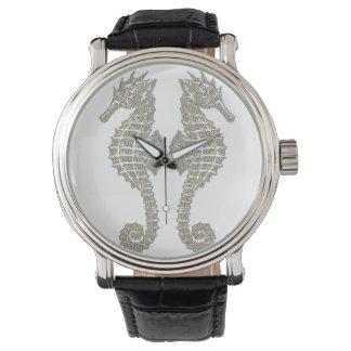 Tribal Seahorses Wrist Watches