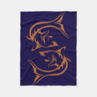 Tribal Shark Fleece Blanket