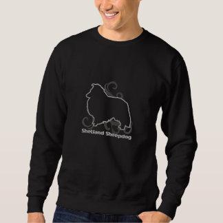 Tribal Sheltie Embroidered Sweatshirt