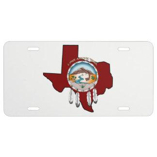 Tribal Shield/Texas License Plate