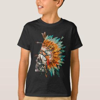Tribal Skull Chief Skeleton T-Shirt