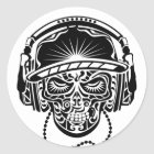 TRIBAL SKULL CLASSIC ROUND STICKER