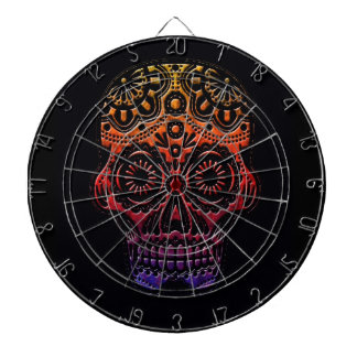 Tribal skull dartboard design
