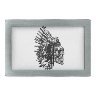 Tribal Skull, Guns and Knives belt buckle