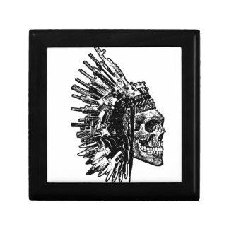 Tribal Skull, Guns and Knives keepsake box