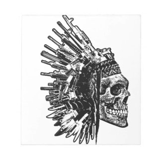 Tribal Skull, Guns and Knives Notepad