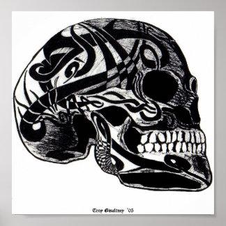 Tribal Skull (Tattoos) Poster