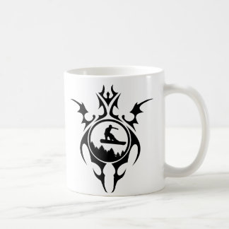 tribal snowboard coffee mug