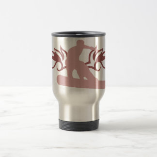 tribal snowboard travel mug
