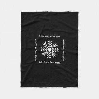 Tribal Snowflake Geometric Christmas Fleece Blanket
