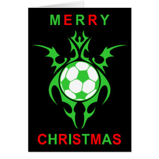 tribal soccer merry christmas card