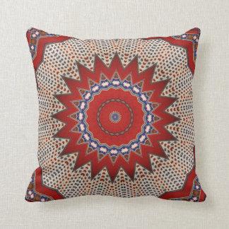 Tribal Southwest Santa Fe Pattern Red Throw Pillow