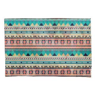 Tribal Southwest Turquoise Geometric Pattern Pillowcase