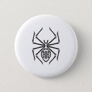 tribal spider design 2 inch round button