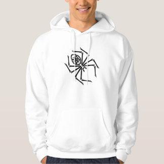Tribal Spider Hooded Long Sleeve T Shirt