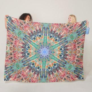 Tribal Spirit Animal Chakra Mandala Fleece Blanket