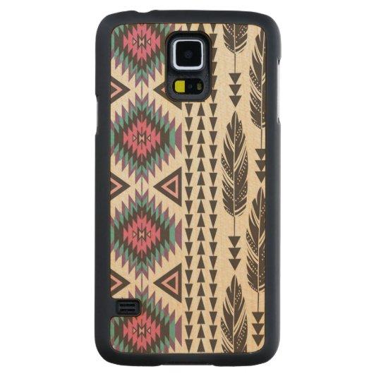 """Tribal Spirit"" Maple Wood Samsung Galaxy S5 Case"